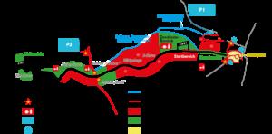 Streckenplan und Besucher-Informationen